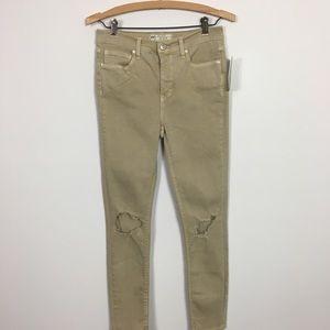 Free People tan jeans size 27R